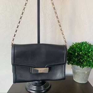 Kate Spade Black Leather Goldtone Chain Bag